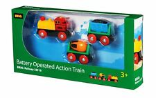 Brio Battery Operated Action Train 3 PACK Wooden Railway NEW 33319