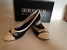 Georges Rech Synonyme Manga Black & Cream Court Shoes -UK7, EU40, US10 Worn once