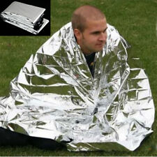 Waterproof Emergency Blanket Survival Safety Insulat Mylar Thermal Heat BY