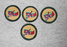 3 Girl Scout A Z Caring for Children Patch JUNIOR WORLDS TO EXPLORE GREEN