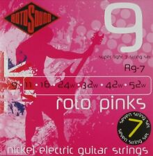 ROTOSOUND R9-7 ROTO PINKS SUPER LIGHT 7 STRING GUITAR STRINGS 9-52 2 PACKS