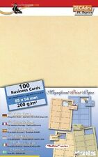 DECADRY scr-7880 CARDS 200gr PERGAMENA BUSINESS CARDS. apportare le proprie carte