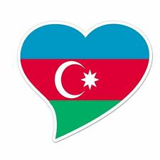 "Azerbaijan Flag Heart car window bumper sticker decal 5"" x 3"""