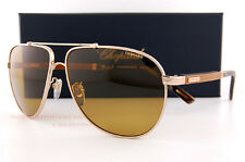 New Chopard Sunglasses SCH B78V A39Z Gold/Wood/Yellow Polarized  For Men