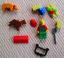 "LEGO ""CITY"", FARMER W/ PIG AND DOG. (#7566). WITH MANUAL & MINI FIGURE. (PC)"