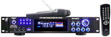 NEW Pyle PWMA1003T 1000W Hybrid Pre-Amplifier W/AM-FM Tuner/USB Wireless Mic