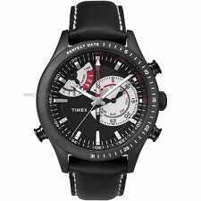 Timex Men's Intelligent Quartz TW2P72600 Chronograph Black Leather Watch