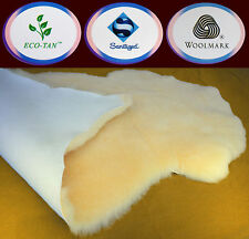 New Large Single Sheepskin Lambskin Rug Australian 110+cm Baby ECO-TAN MEDICAL