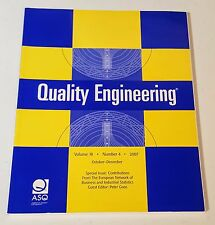 QUALITY ENGINEERING VOL 19 NO 4 2007 AMERICAN SOCIETY FOR QUALITY taylor francis