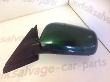 Audi A4 Passenger Side Electric Wing Mirror Green 99-01