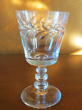 Libbey Rock Sharpe Empire Wreath #1002 Stem Crystal Water Goblet(s)