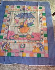Cranston Mother Goose Fabric 100% Cotton Pastel Nursery Crib Quilt Cheater Panel