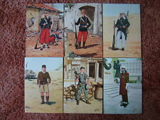 6 Card Set No 11 Military Postcards THE FRENCH FOREIGN LEGION. Mint condition.