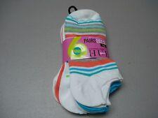 NWT Women's HUE Sport Cotton Foot Liner Footie Sock 6 Pair Shoe 6-9 Multi #453J