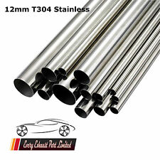 "12mm x 1mm Wall T304 Stainless Steel Tube 1000mm (40"") Long Repair Pipe"