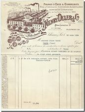 Invoice - Henry Dellers & co Prunes in canned food in Villeneuve S/Lot 1934
