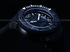 RARE Invicta Mens Combat Sea Hunter Swiss Made Automatic All Black SS 300M Watch