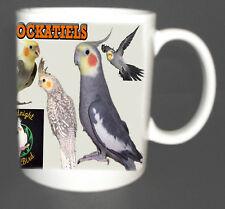 COCKATIEL COFFEE MUG, LIMITED EDITION, I LOVE COCKATIELS NEW XMAS GIFT