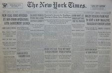 HITLER SAAR REICH - DALADIER AUSTRIA 8-1933 August 28 HONAN SHANTUNG RIVER FLOOD