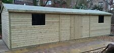 20 x 10 19mm Tanalised & Pressure Treated T&G Apex Workshop Shed