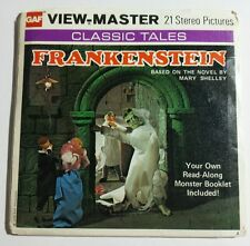 1976 View-Master FRANKENSTEIN Mary Shelley B323 - 3 Reel Set + Booklet