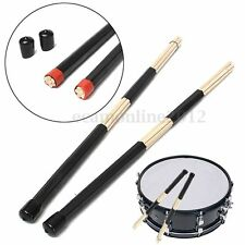 Paire Baguette Bâton Pilon Tambour Batterie Noir Pour Batteur Musique 20*400mm