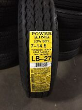 7-14.5 7X14.5 New Trailer Tire 12 Ply LRF Heavy Duty