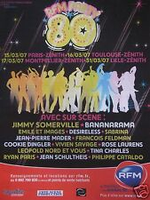 PUBLICITÉ RADIO RFM PARTY 80 PARIS-ZÉNITH AVEC JIMMY SOMERVILLE BANANARAMA