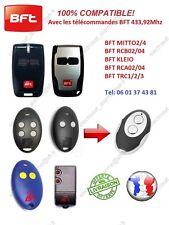 Télécommande compatible BFT MITTO2, RCB2, RCA2, TRC2, KLEO, Portail garage