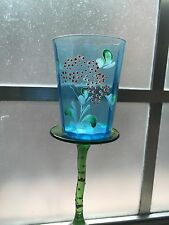 VINTAGE Victorian hand painted glass TUMBLERS-LOVELY COLORS; LAST HOUR SALE