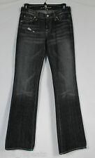 7 for all mankind Black Distressed Bootcut Jeans Sz 26 USA
