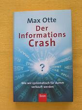 NEU! Der Informationscrash, von Max Otte (2009, Gebunden)