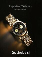 Sotheby's ///  Imp. Wristwatches Watches Hong Kong Auction Catalog 2010