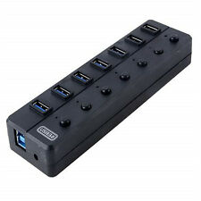 Professional Hi-Speed USB 3.0 Portable 7 Port Hub Adapter VIA VL812 Chipset