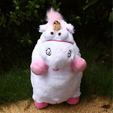 """16"""" inch New Despicable Me Fluffy Unicorn White Soft Plush Doll Fluffy Toys Gift"""