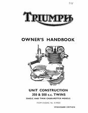 Triumph Owners Manual Book 1967 Tiger 90 T90, Tiger 100 T100S & Tiger 100 T100T