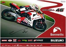Tommy Bridewell BSB A3 Poster Autographed by Tommy Bridewell Suzuki 2016