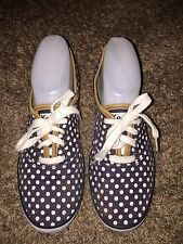 Women's Keds Champion Navy Blue Polka Dot Sneaker Tennis Shoe Size 7.5