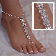488f148642669f Pearl Barefoot Sandals Beach Wedding Foot Jewelry Anklet Ankle Bridal  Bracelet 4