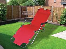 Nouveau rouge pliable gravité transat chaise longue inclinable jardin lit inclinable