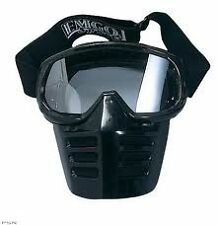 New Black Vintage  MOTOCROSS GOGGLES WITH MASK. LIKE OLD SCOTT MASKS AHRMA