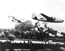 """B-24 Bombers on a low bomb run 8""""x 10"""" World War II WW2 2 Photo 466"""