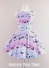 XS Dripping Sky Skater Dress kawaii  harajuku  pastel goth Jfashion creepy cute