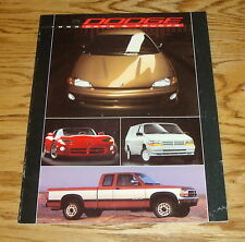 Original 1993 Dodge Car & Truck Full Line Sales Brochure 93 Ram Viper Daytona