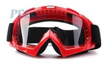 RED DIRT BIKE ATV MOTORCYCLE GOGGLE MOTOCROSS GOGGLES V GOGGLE-RED