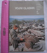 MILITARY NEWSLETTER 1987 Yugoslavia army JNA TANK,OERLIKON, AK47 M70,Land forces