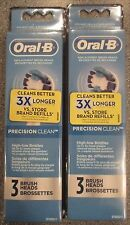 6 ORAL-B Precision Clean Replacement Toothbrush Tooth Brush Heads 2 X 3 Packs