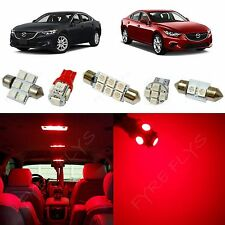 8x Red LED lights interior package kit for 2014 & Up Mazda Mazda6 MS3R