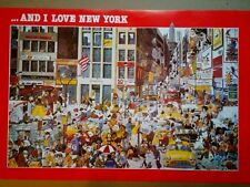 Vintage Kichka Michel ...And I Love New York poster NEW approx, 34 X 24 Man Cave