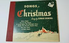Vintage, SIGNED, Einar Ekberg, 6 LP's,Songs For Christmas,SET,78 rpm Great Gift!